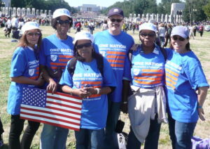 PS 372 staff at OneNation rally in DC