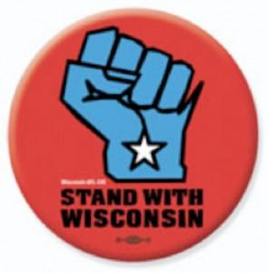 Wisconsin solidarity button