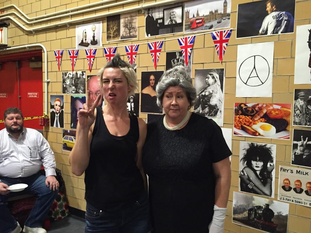 The Queen and her punk-rocker friend.