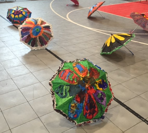 Was in the performance space, ready for student butterflies to visit them.